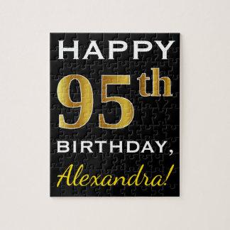 Puzzle 95.o cumpleaños del oro negro, falso + Nombre de