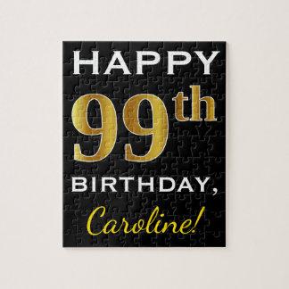 Puzzle 99.o cumpleaños del oro negro, falso + Nombre de