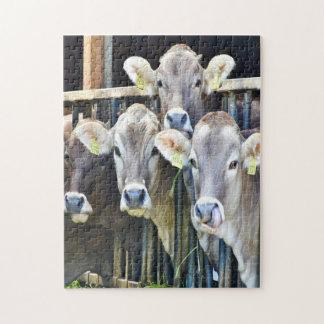 Puzzle Abajo en las vacas de la granja