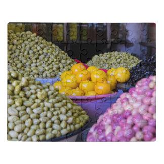 Puzzle Aceitunas y limón en el mercado