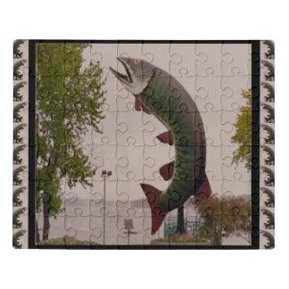 Puzzle Agua de mar del nadador de la nadada del tiburón