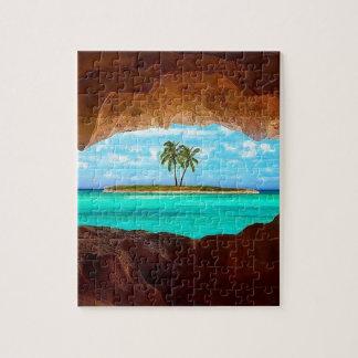 Puzzle Agua y palmeras escénicas