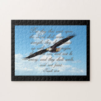 Puzzle Alas como Eagles, biblia del cristiano del 40:31