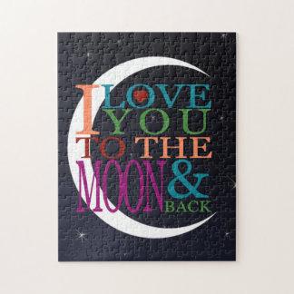 Puzzle Ámele a la luna y a la parte posterior