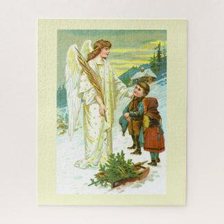 Puzzle Ángel con los niños