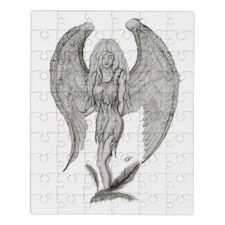 Puzzle Ángel, diseño blanco y negro