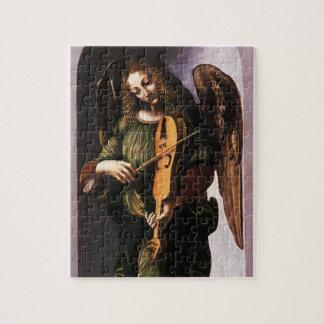 Puzzle Ángel en verde con un Vielle de Leonardo da Vinci