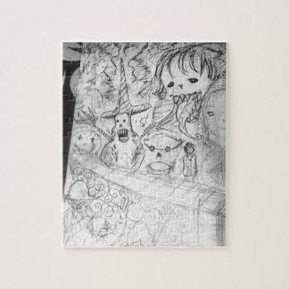 Puzzle animado del manga del monstruo del yaie