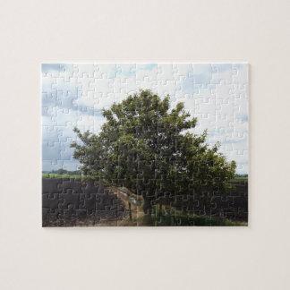 Puzzle árbol de los campos de granja