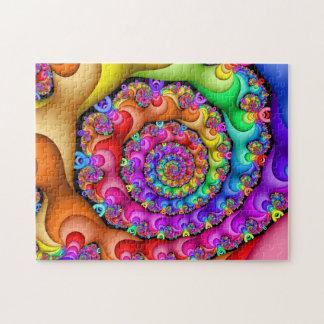 Puzzle Arco iris espiral del fractal