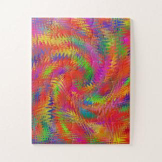 Puzzle Arco iris tejido