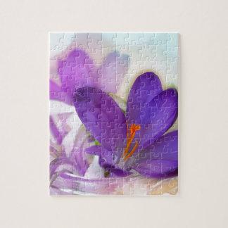 Puzzle Arreglo floral del azafrán y del lirio de los