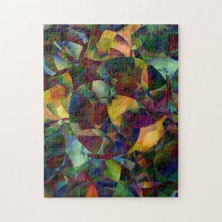 Puzzle Arte abstracto colorido, caleidoscópico