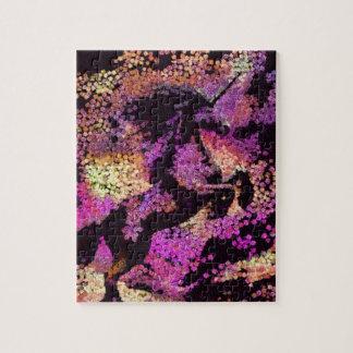 Puzzle Arte abstracto del unicornio mágico de la fantasía