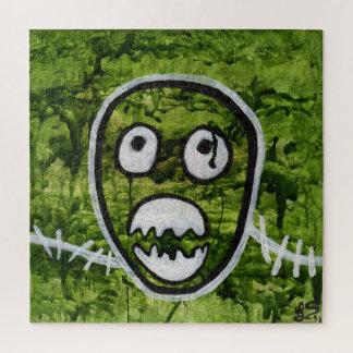 Puzzle Arte caprichoso impar del monstruo del cráneo