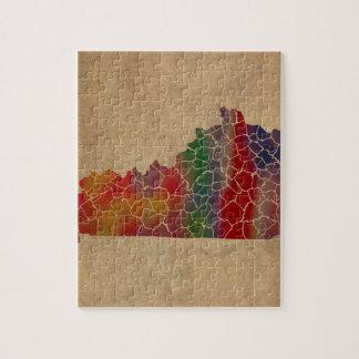 Puzzle Arte colorido de los condados de Kentucky