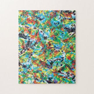 Puzzle Arte colorido del estampado de plores de la