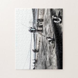 Puzzle Arte de Estambul de los pescadores y de los gatos