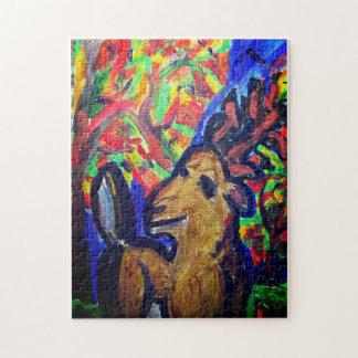 Puzzle arte de la caída de los ciervos