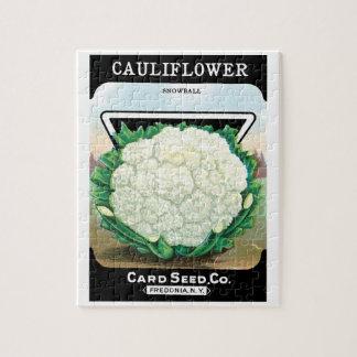 Puzzle Arte de la etiqueta del paquete de la semilla del