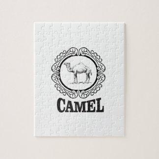 Puzzle arte del logotipo del camello