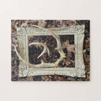 Puzzle Arte fotográfico enmarcado de las astas de los