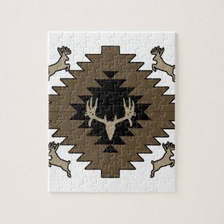 Puzzle Arte indio americano de los ciervos del dólar