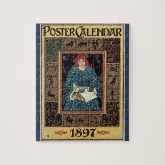Puzzle Arte Nouveau, libro del vintage de la astrología