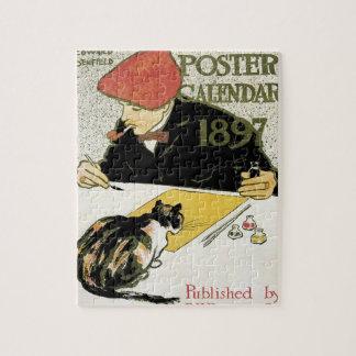 Puzzle Arte Nouveau, pintura del vintage del artista con