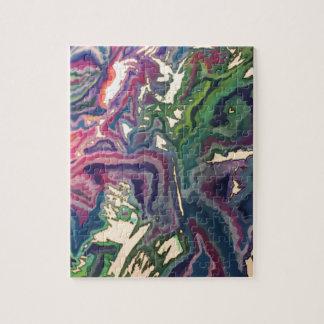 Puzzle Arte topográfico IV del papel seda