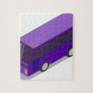 Puzzle Autobús púrpura