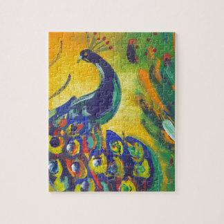 Puzzle azul de pavo real