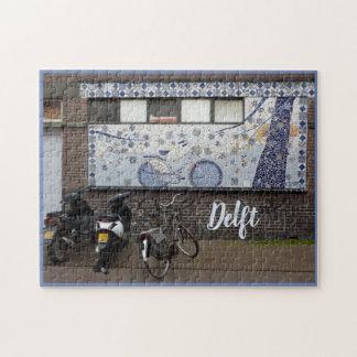 Puzzle Azul y bicis de Delft