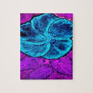 Puzzle Azules del hibisco