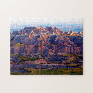 Puzzle Badlands Dakota del Sur.
