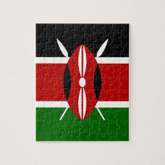 Puzzle ¡Bajo costo! Bandera de Kenia