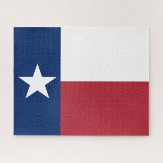 Puzzle Bandera azul blanca roja de Tejas