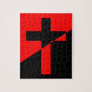 Puzzle Bandera cristiana del cristianismo de la anarquía
