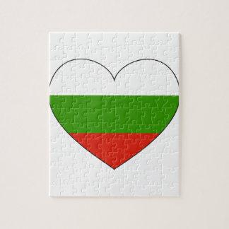 Puzzle Bandera de Bulgaria simple