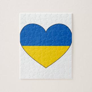 Puzzle Bandera de Ucrania simple
