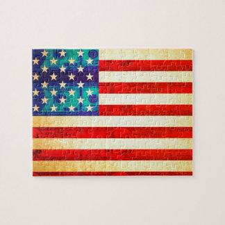 Puzzle Bandera del dinero de América