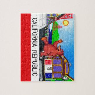 Puzzle Bandera del oso de San Francisco California