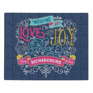 Puzzle Bandera del personalizado de la paz de la alegría