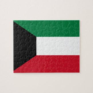 Puzzle Bandera nacional del mundo de Kuwait