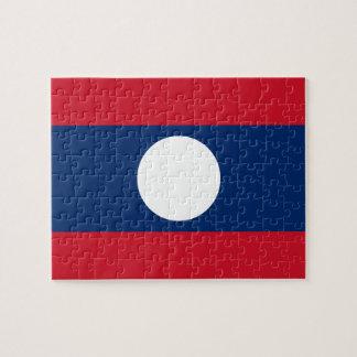 Puzzle Bandera nacional del mundo de Laos