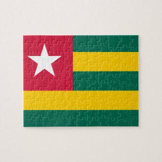 Puzzle Bandera nacional del mundo de Togo