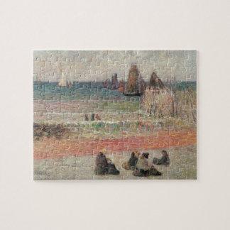 Puzzle Baño de Dieppe de Paul Gauguin, bella arte del