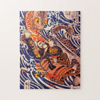 Puzzle Bella arte de Kuniyoshi del samurai y del