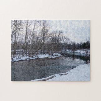 Puzzle Belleza James River de la nieve