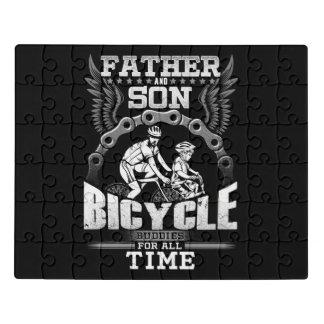 Puzzle Bicicleta del hijo del padre